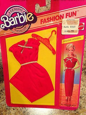 Mattel Vintage Barbie Doll Clothing Outfit Holiday Hostess Dress #4803 1983