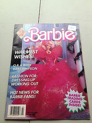 Barbie Magazine Winter 1991 Doll Book Trading Card Poster Holiday Christmas