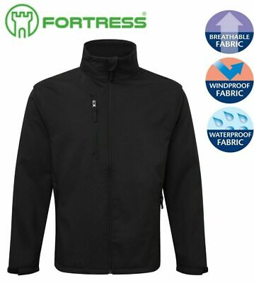 Fortress Selkirk Soft Shell Pile Impermeabile Anti Vento Termico Giacca Foderata