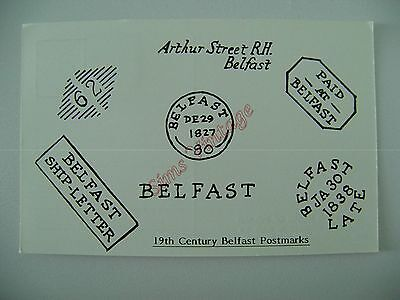 Northern Ireland B Postcard Belfast 19th Century Postmarks  046