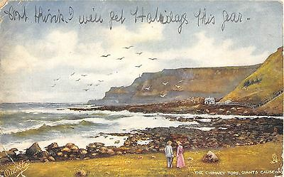 Northern Ireland Postcard The Chimney Tops Giants Causeway Tucks Oillette C0 053