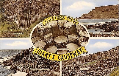 Northern Ireland Postcard Giants Causeway Multiview  F0 011