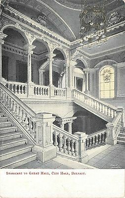 Northern Ireland Postcard Belfast Staircase To great Hall City Hall  H0 030