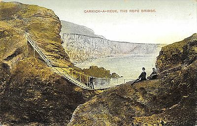 Northern Ireland Postcard Rope Bridge Carrick A Rede Giants Causeway K0 006