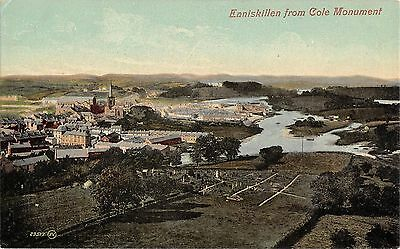 Northern Ireland Postcard Enniskillen Co Fermanagh From Cole Monument  E0 011