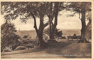 Northern Ireland Postcard Enniskillen Co Fermanagh From Fortshill Park E0 007
