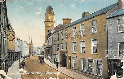 Northern Ireland Postcard Enniskillen Co Fermanagh Main Street  E0 004