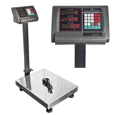 600LB Platform Bench Shipping Weight Digital Counter Scale Warehouse Mailing New