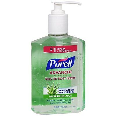 6 Pack - Purell Instant Hand Sanitizer With Refreshing Aloe, 8 Ounce Each