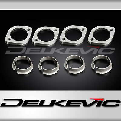 Honda Cbr600F 87-90 Exhaust Flanges & Collets Set Of 4 Oem Compatible Downpipes