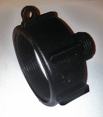 """IBC Tote  Container Tank Storage Water Hose Connector 2"""" Fine x Garden Hose"""