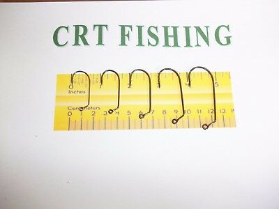 EAGLE CLAW 413 Oshaughnessy 60-Degree Jig Hook Heavy Wire Size 3//0