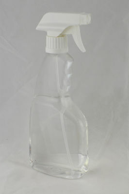 Spray Bottle with trigger nozzle 500ml Clear PET- packaging *Australian Seller