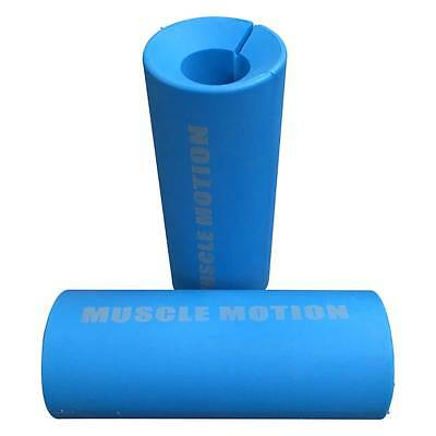 Pair Of Thick Fat Bar Grips For Dumbbell & Barbell Forearm & Grip Strength