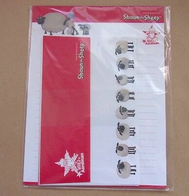Official * Shaun the Sheep Letter Set * Notepad Envelope Cute Japan