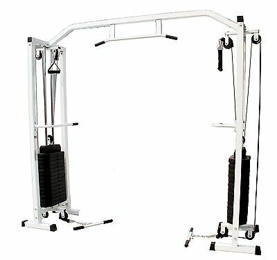 EVINCO Cable Crossover Machine + Pull Up Bar & 150kg Weight Stack Multi Gym Home