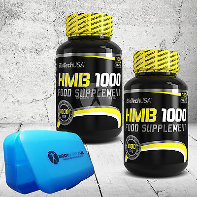 BioTech USA HMB 1000 180 TABLETS DIETARY SUPPLEMENT WITH PURE HMB LEAN MUSCLES