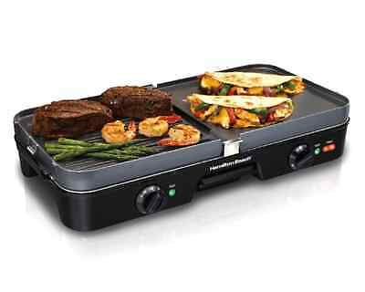 Reversible Grill Griddle Large Electric Combo Cooking Indoor Appliance .