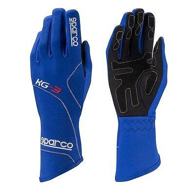 Guantes Sparco Blizzard KG-3 / Karting / Azul