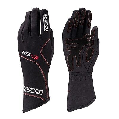 Guantes Sparco Blizzard KG-3 / Karting / Negro-Rojo