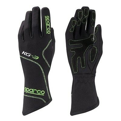 Guantes Sparco Blizzard KG-3 / Karting / Negro-Verde