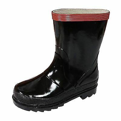 Tamarack CITY Toddler & Youth Boys Kids Black Rubber Waterproof Rainboots Boots
