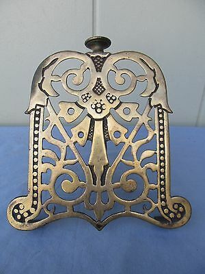 Antique brass small Fireplace/Stove Screen screw mounts on ledge