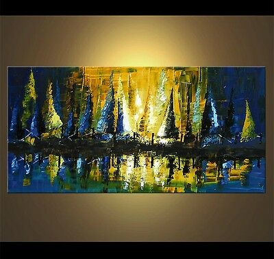 Abstract acrylic painting on canvas,100%  hand painted, Large