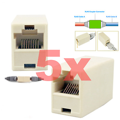 Cable Joiner Coupler Extender Adapter Connector RJ45 Network LAN Simple. 041
