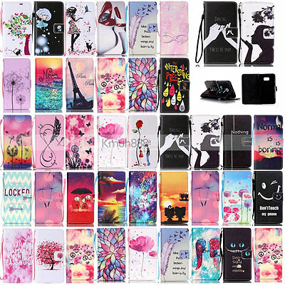 KT Strap Leather Card Wallet Case Cover For Samsung Galaxy S6 Edge S5 S4 S3 Mini