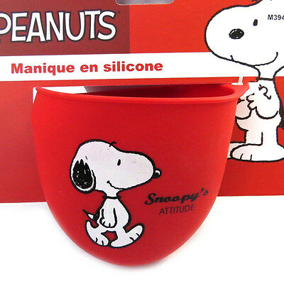 "Snoopy [M3949] - Manique silicone ""Snoopy"" rouge"