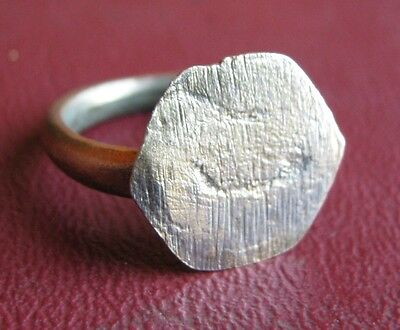 Antique Artifact   18th Century Bronze Finger Ring SZ: 7 1/4 US 17.5mm 14418 DR