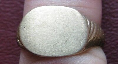 Antique Artifact > 19th Century Bronze Finger Ring  SZ: 8 US 18mm 14396 DR