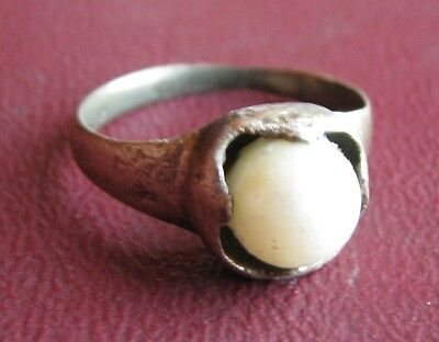 Antique Artifact > 18th Century Bronze Finger Ring  SZ: 8 US 18mm 14397 DR