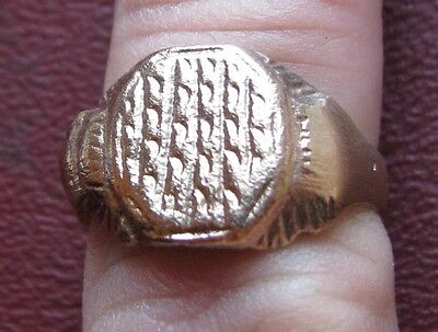 Antique Artifact   18th Century Bronze Finger Ring  SZ 8 1/4 US 18.25mm 14398 DR