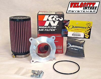Raptor 700 Billet Airbox Adapter kit with K&N Air Filter with FREE Outerwears