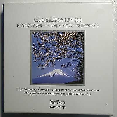 2013 Japan 500 Yen Yamanashi Bi-Metallic Proof Coin in Case of Issue 30k Issued