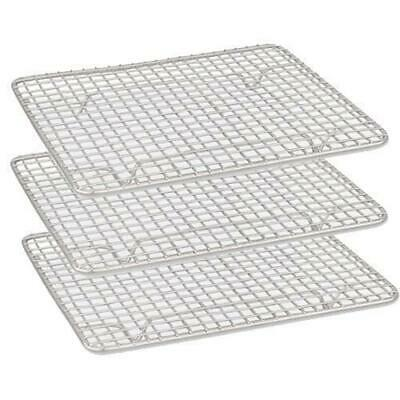 6x Cake Cooling Rack / Steam Pan Grate 450x250mm Chrome Plated with Legs