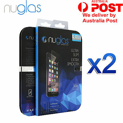 2x GENUINE NUGLAS Tempered Glass Screen Protector For Apple iPhone 6 6S Plus S7