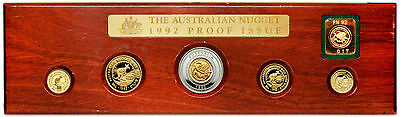 Australia 1992 Nugget 5pc Gold & Silver Proof Set with privy mark