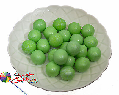 SHIMMER GREEN GUMBALL CANDIES  -  22MM  -  500grams  -  Large Gumballs