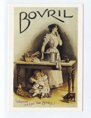 ad63 - Bovril advert woman & child - art postcard