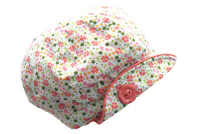 Baby Girls Cotton Floral Sun / Summer Hat / Cap Ages 3-6 6-12 12-24 Months