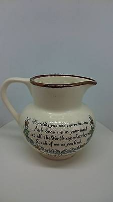 Grays Pottery Jug with Lustre Rim, Motto and Picture of Gretna Green