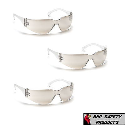 Pyramex Intruder Safety Glasses Indoor/outdoor Mirror I/o Lens S4180S (3 Pair)