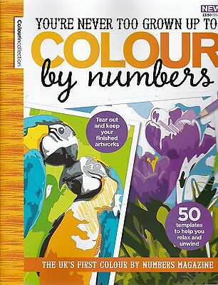 You're Never Too Grown Up To Colour By Numers Issue 3 - Colouring Book - New