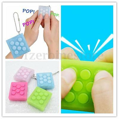 PuchiPuchi Endless Pop Pop Bubble Wrap Key Chain Squeeze Relieve Stress Toy Gift