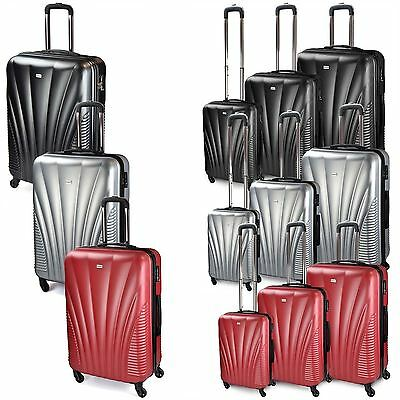 Luggage Set Hard Shell Trolley Suitcase Spinner Wheels Cabin TSA Security Lock