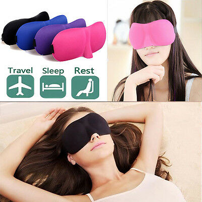 3D Eye Mask Travel Sleep Soft Cover Shade Blindfold Padded Eye Patch For Rest