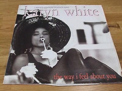 "KARYN WHITE The Way I feel About You 12"" POSTER BAG Rnb Swing Hip Hop /Warner'91"